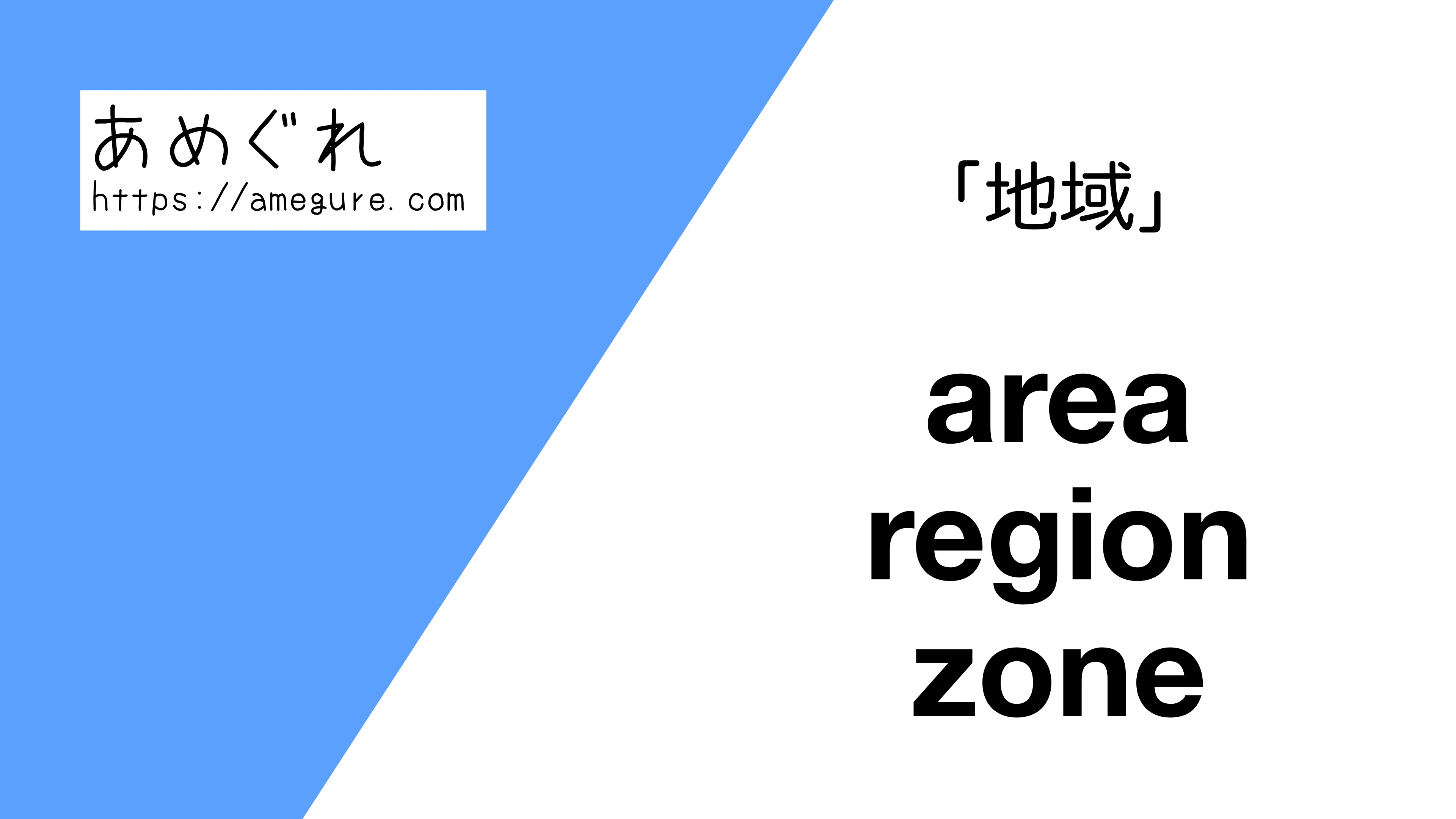 area-region-zone違い