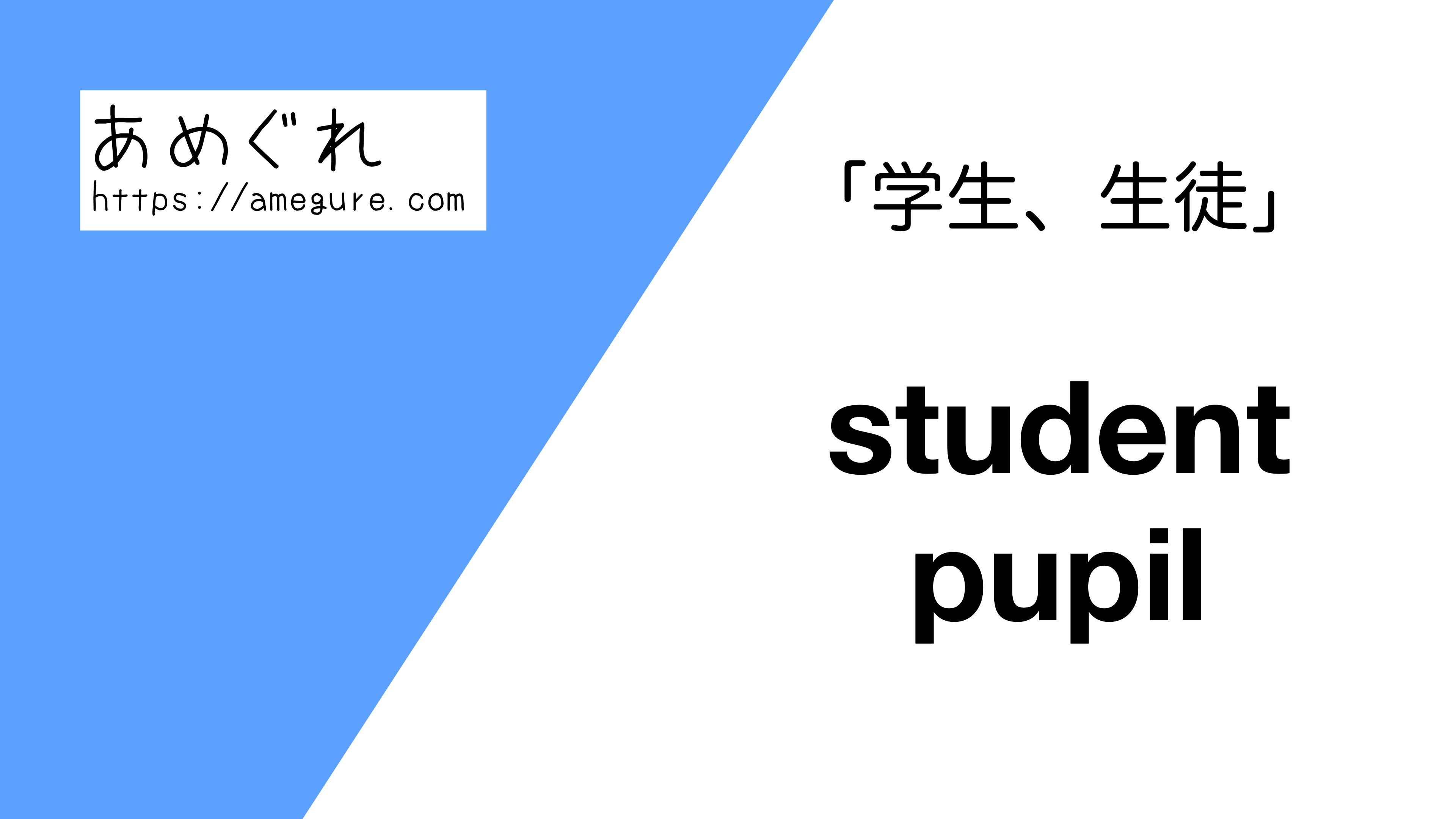 student-pupil違い