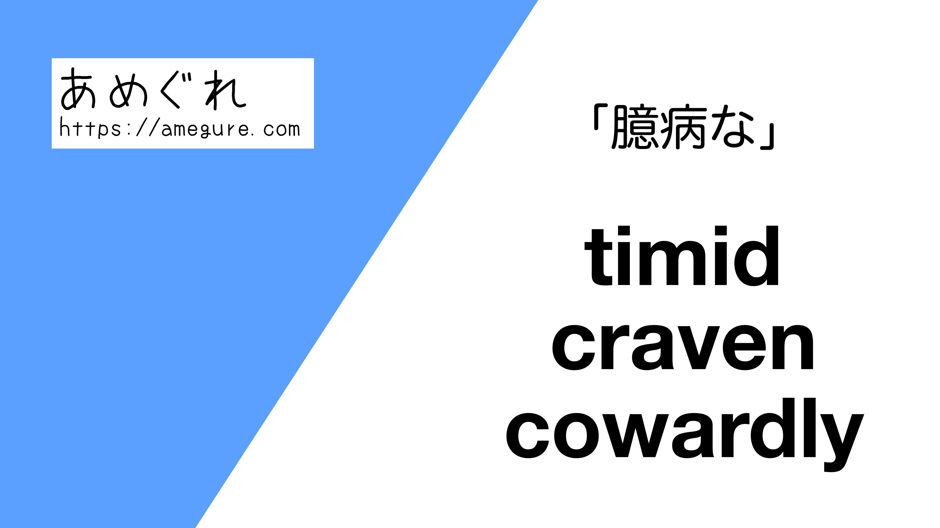 timid-craven-cowardly違い