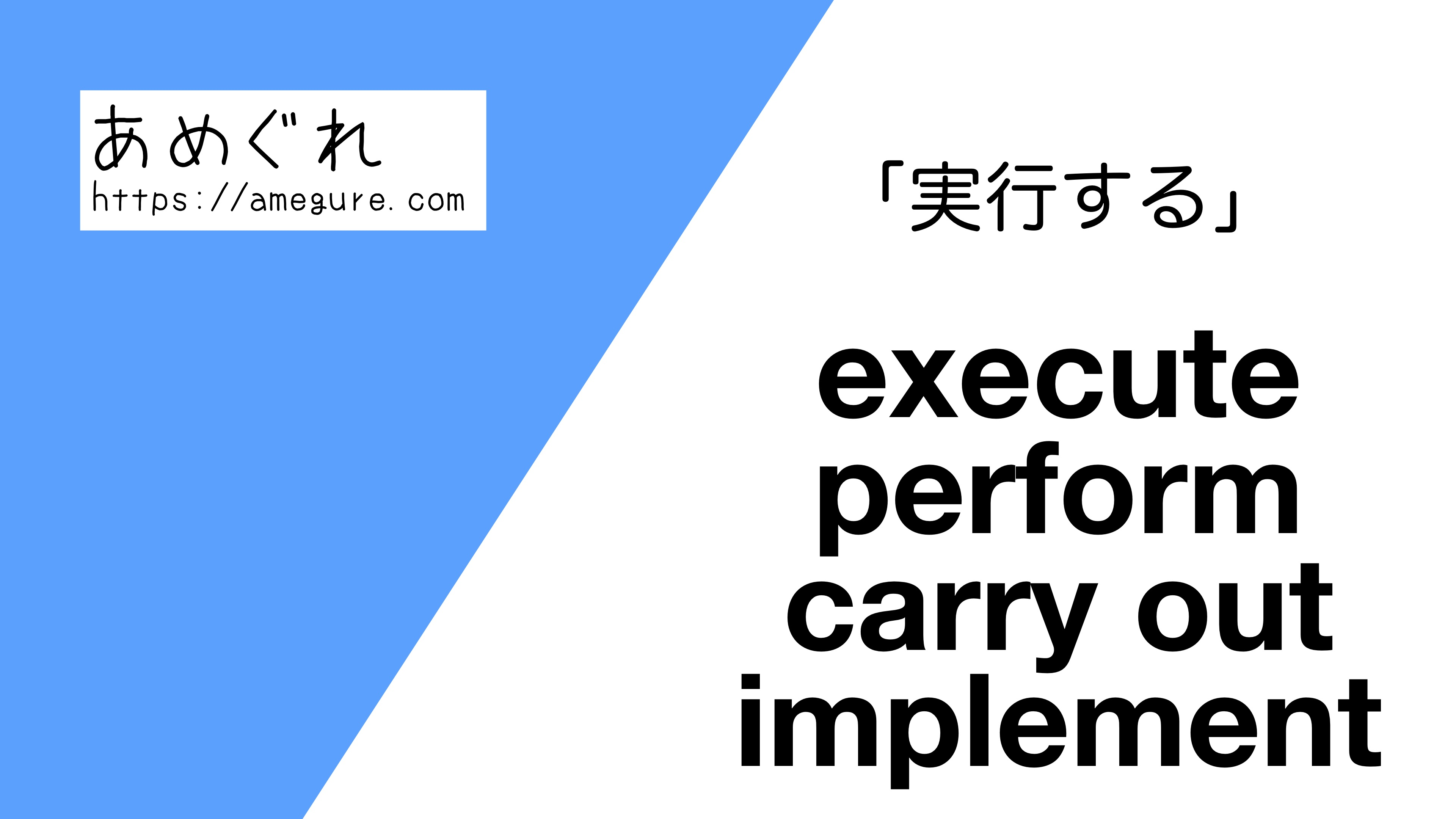 excute-perform-carry-out-implement違い