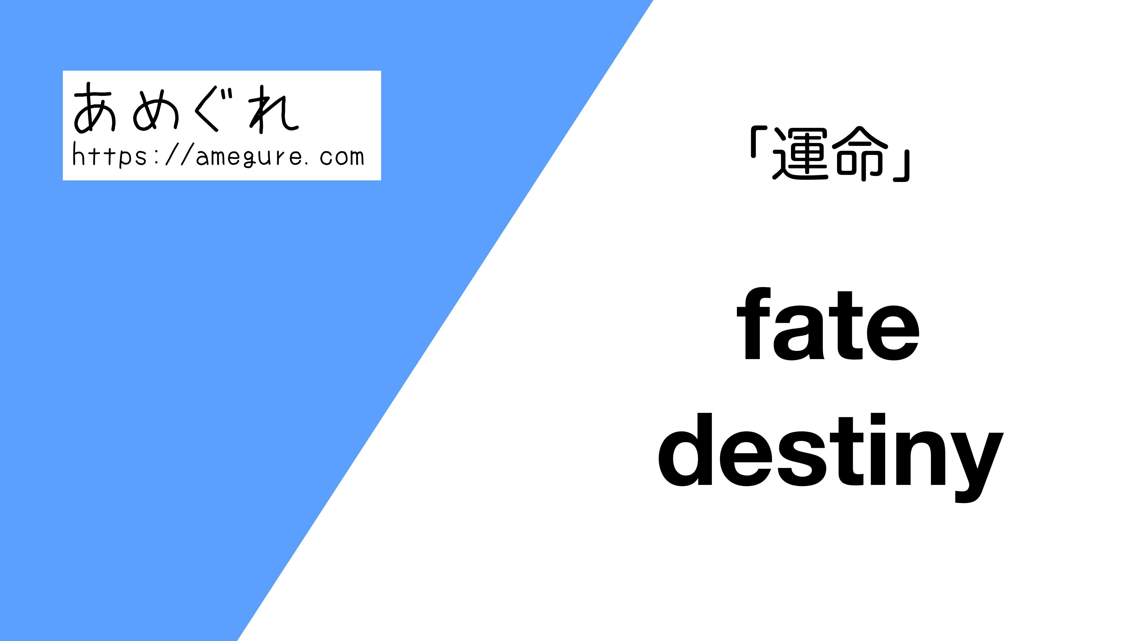 fate-destiny違い
