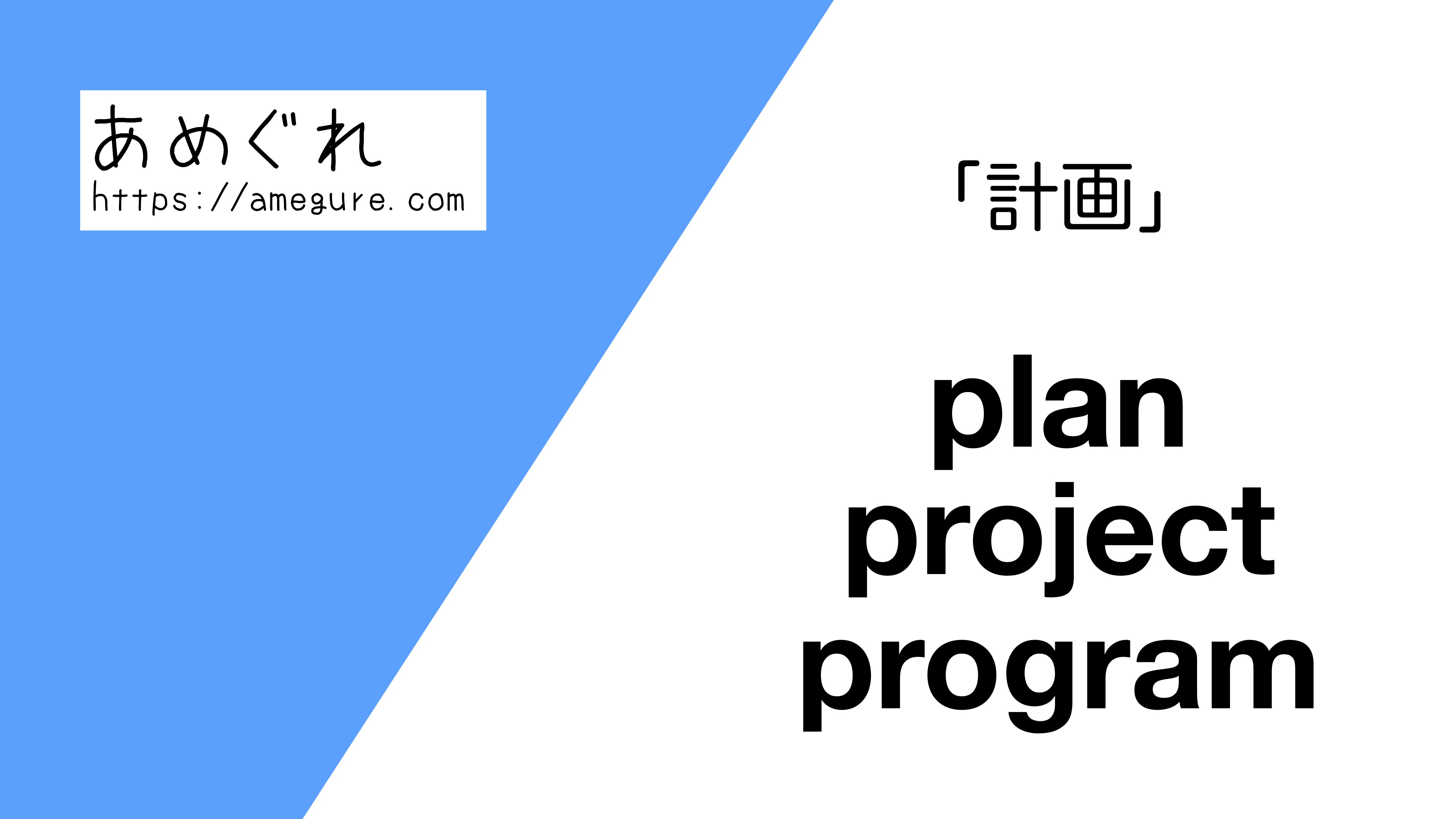 plan-project-program違い