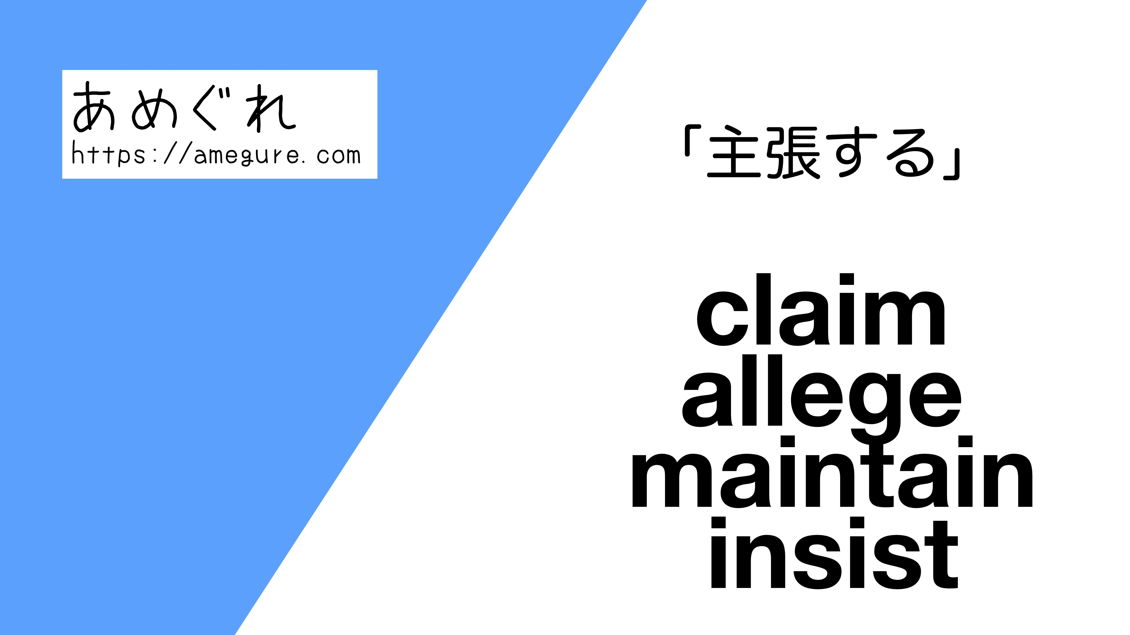 claim-allege-maintain-insist違い