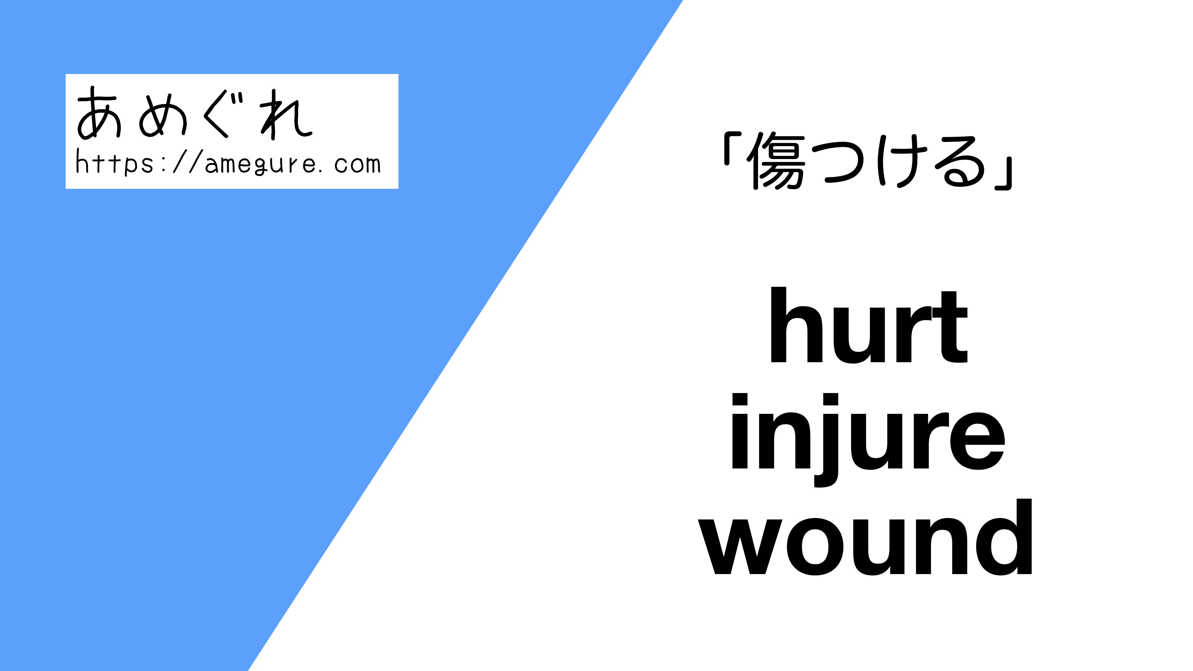 hurt-injure-wound違い