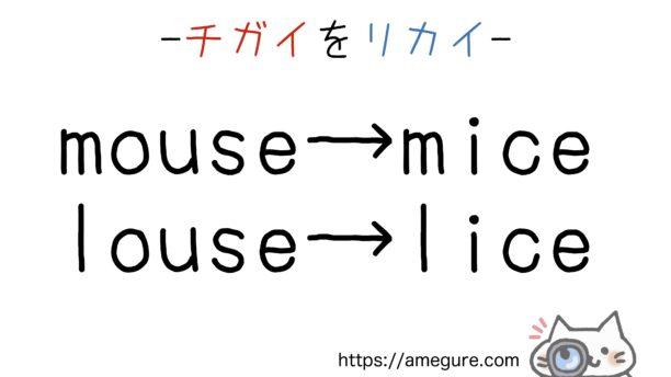 lice-rice違い