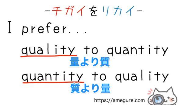 quality-quantity違い