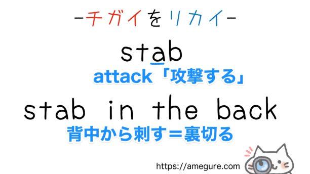 stab-stub違い