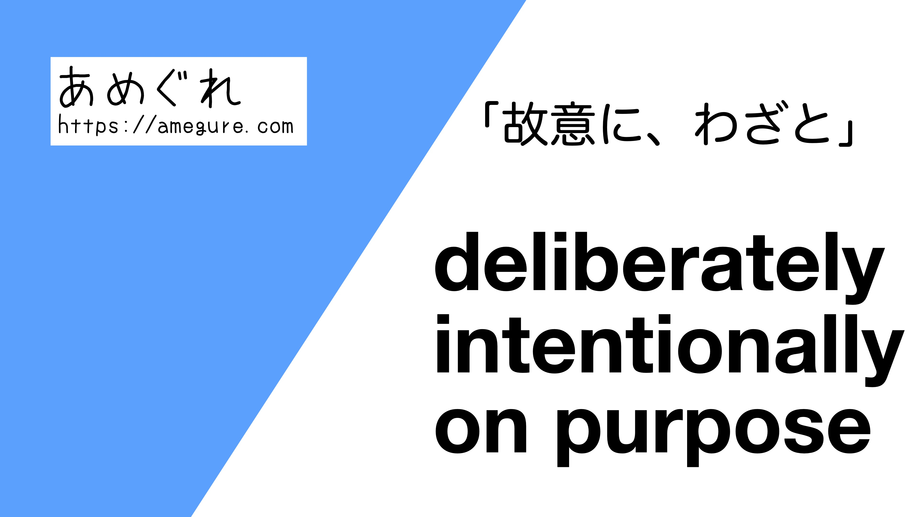 deliberrately-intentionally-on-purpose違い