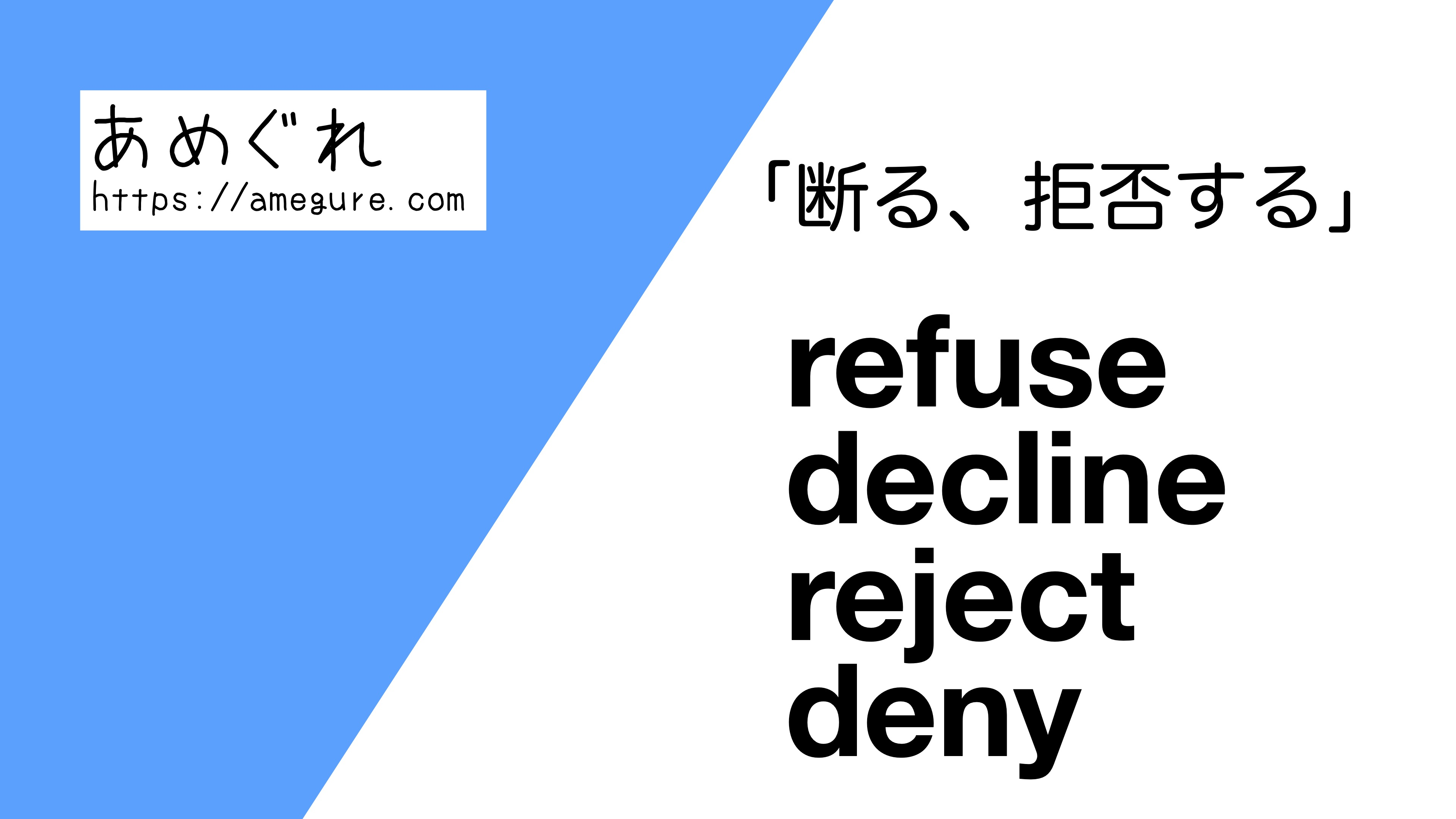 refuse-decline-reject-deny違い