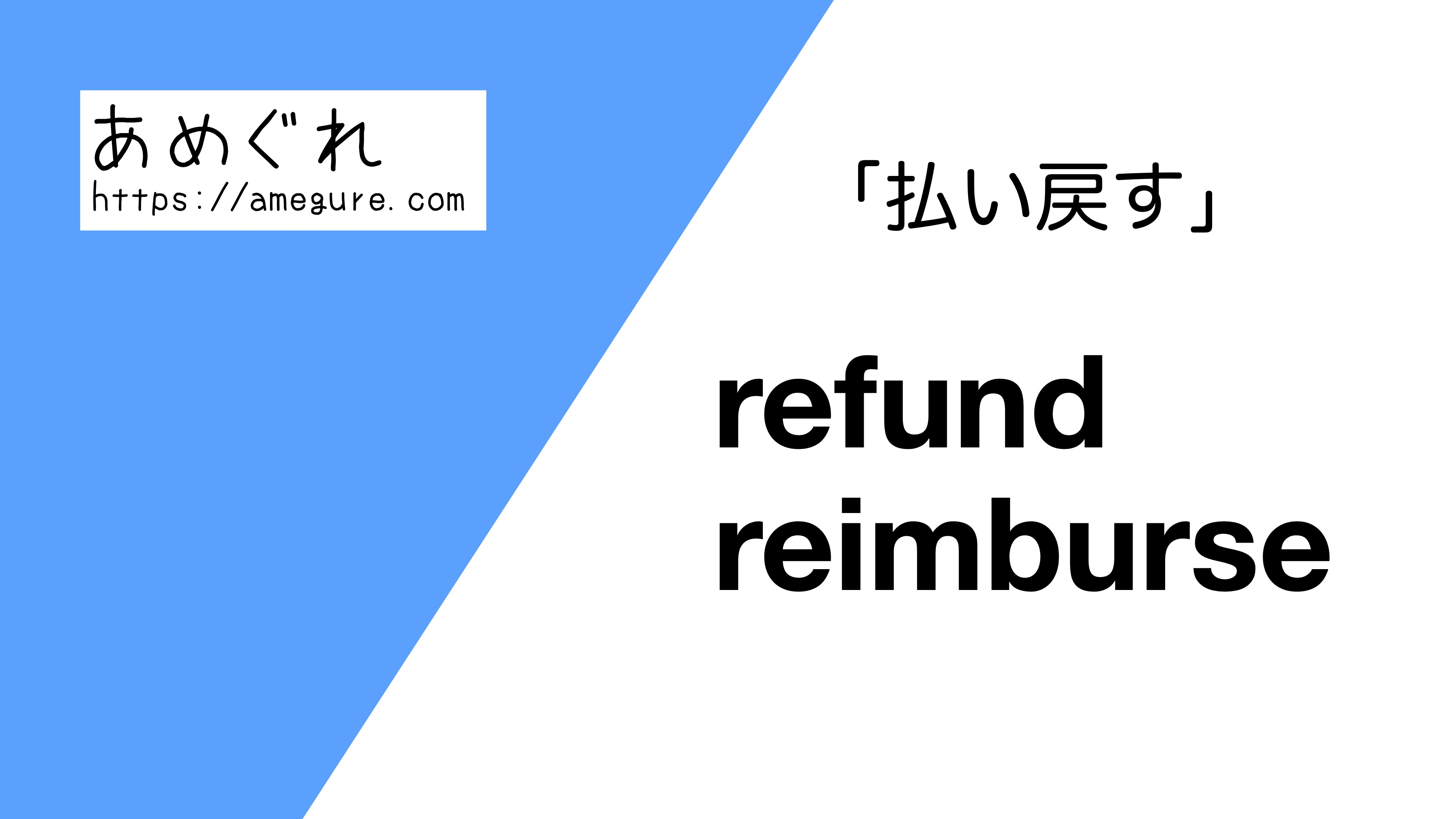 refund-reimburse違い