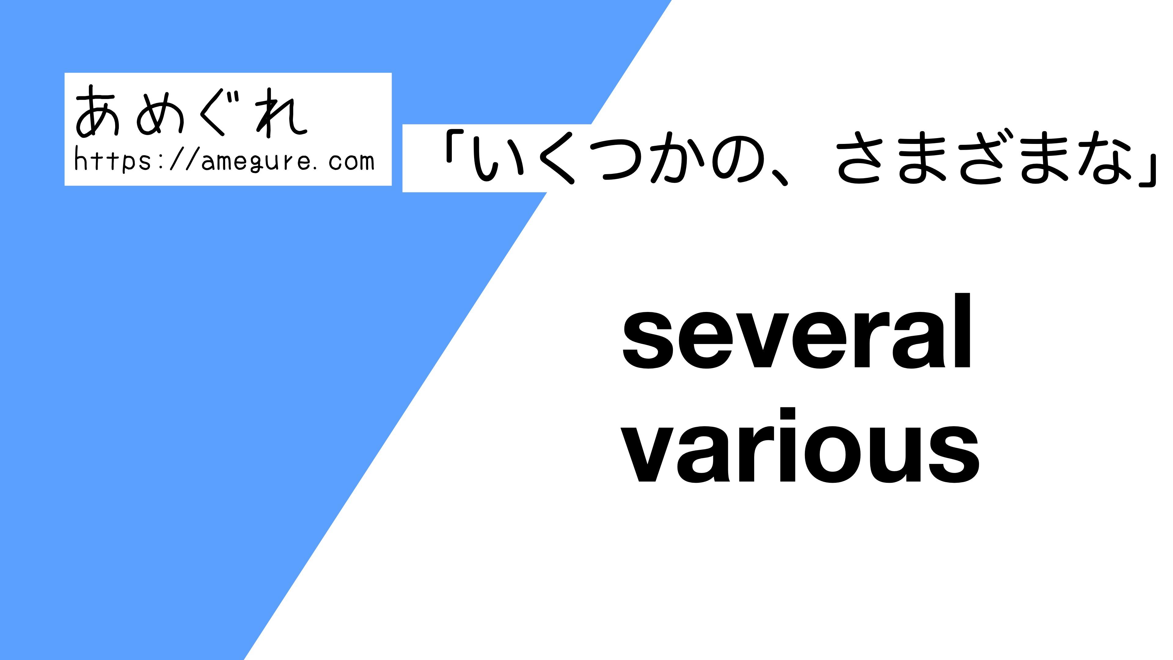 several-various違い