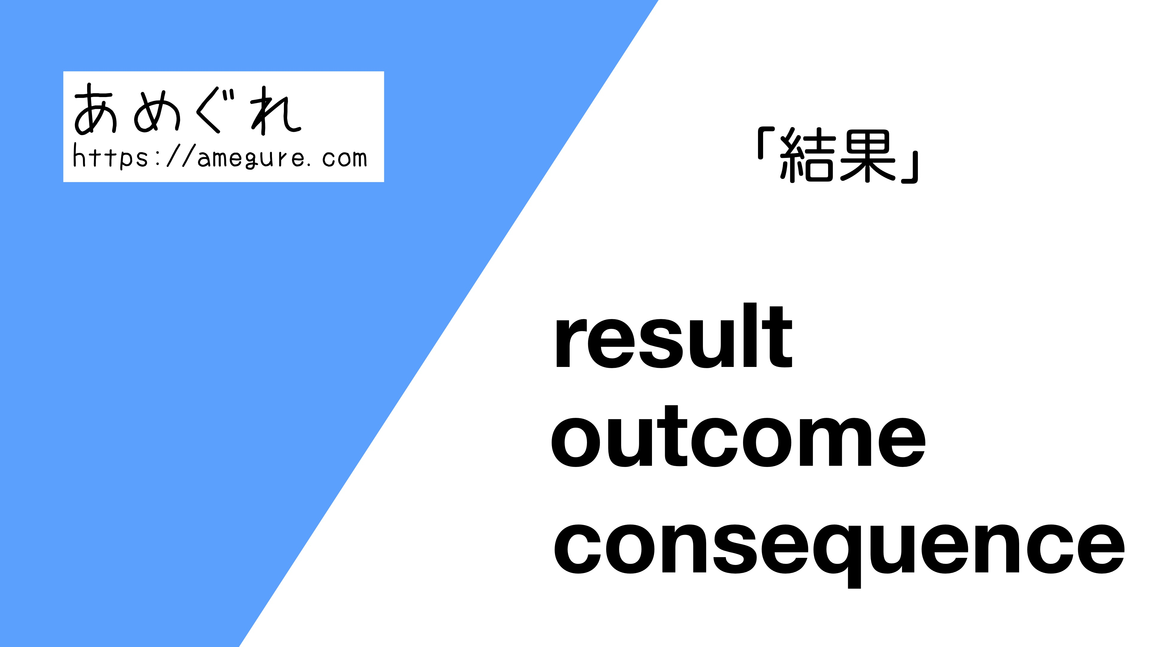 result-outcome-consequence