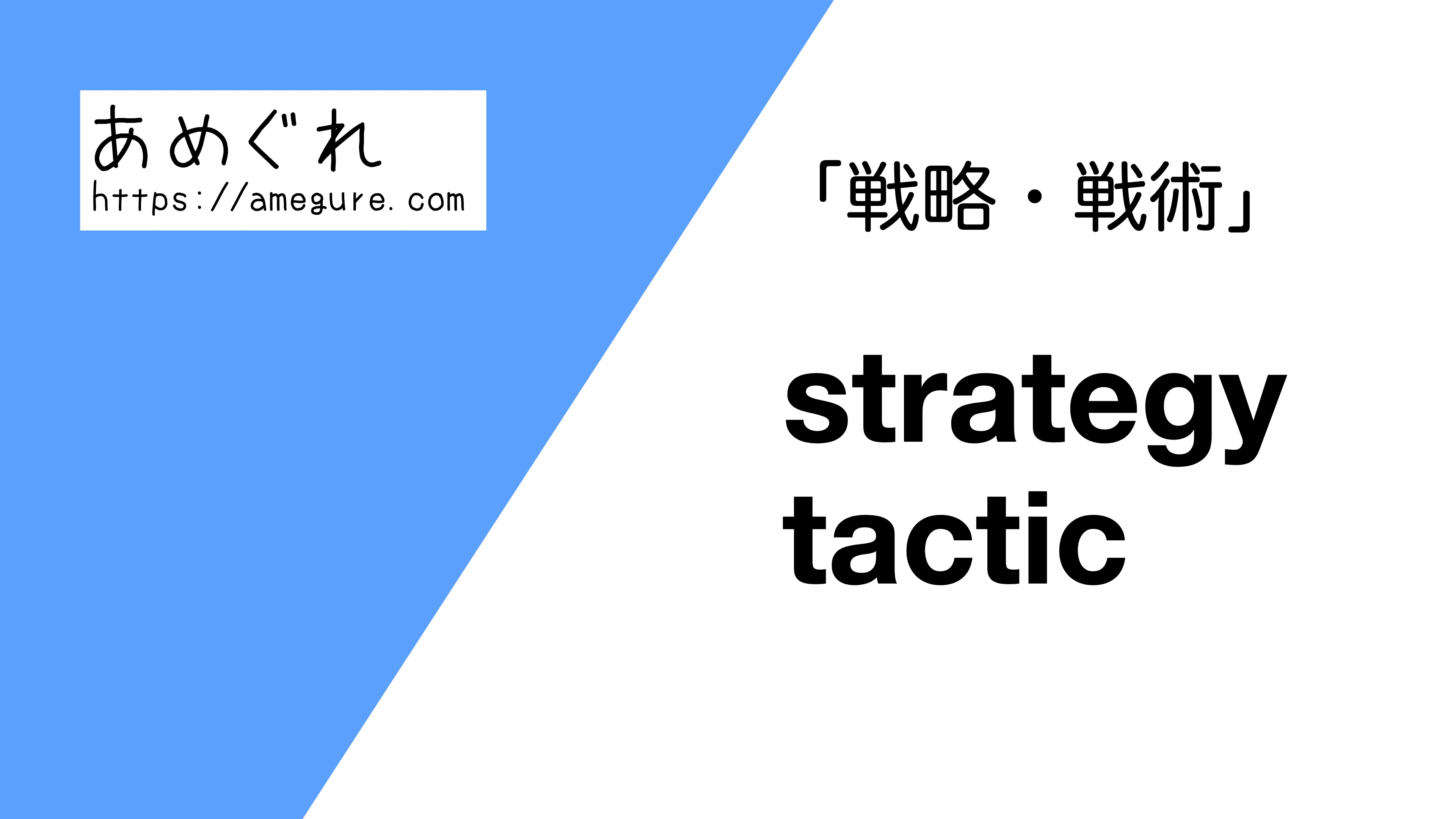 strategy-tactic違い
