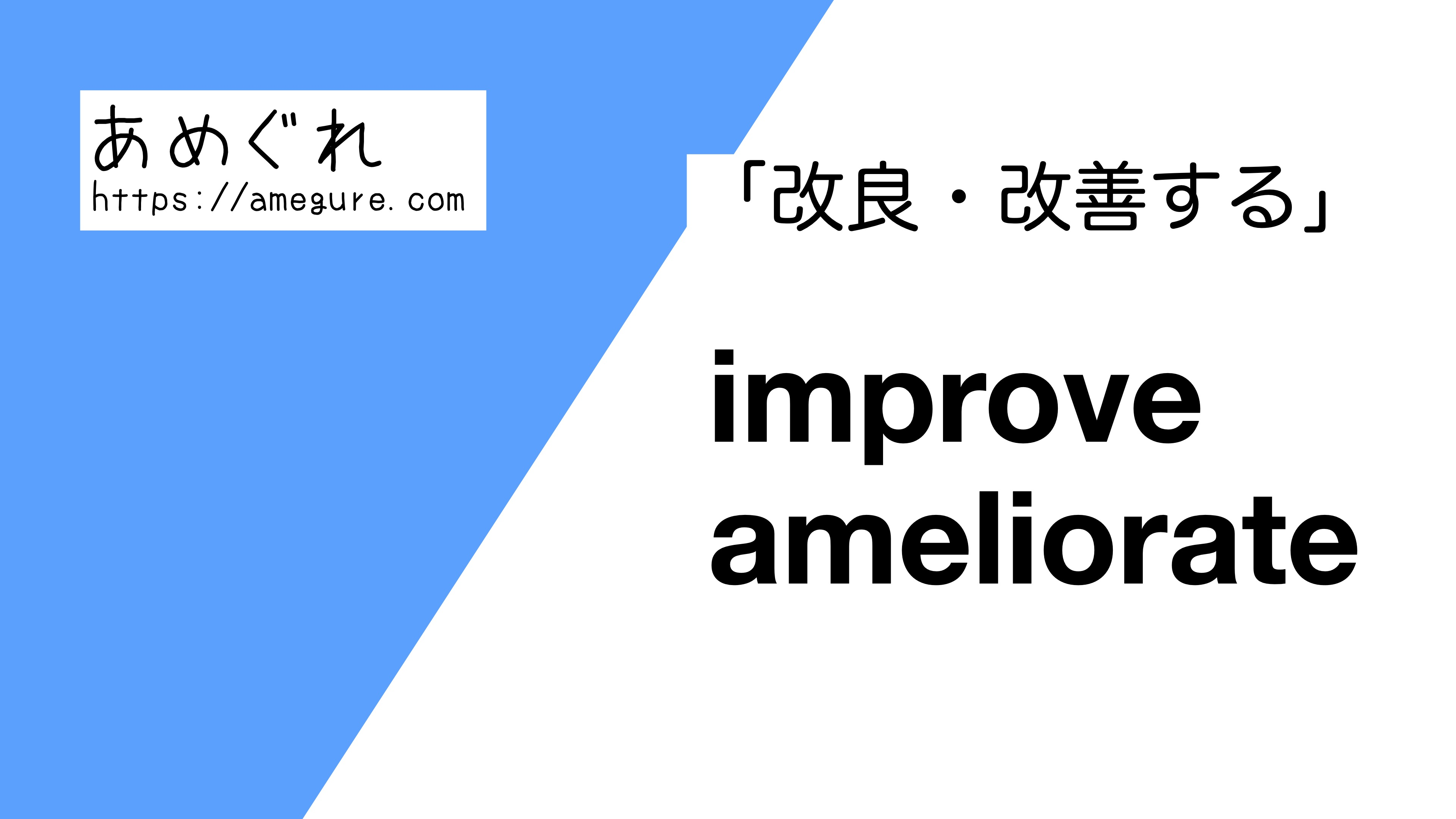 improve-ameliorate違い